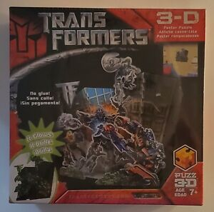 Transformers 3D Puzzle Poster Glows In Dark Brand New Factory Sealed