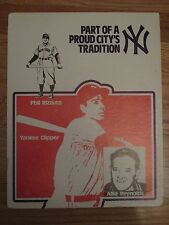 PHIL RIZZUTO Yankee Clipper Part of a Tradition NEW YORK YANKEES Display Sign