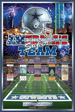 Dallas Cowboys HISTORY OF VICTORY Five Super Bowl Champions Official Wall POSTER