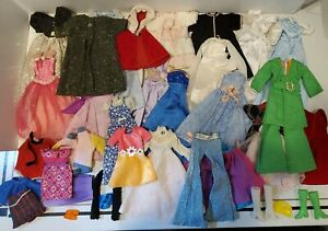 Vintage Barbie Lot  Clothes Accessories 60s-70s-80s  Mixed Brands Some Handmade