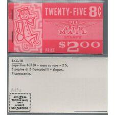 1963-64 STATI UNITI U.S.A. - LIBRETTO MR. ZIP AIR MAIL 25 x 8 c. - UNIF. n. A15a