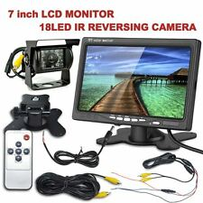 "18 LED IR Reversing Camera + 7"" LCD Monitor Car Rear View Kit For Bus Long Truck"