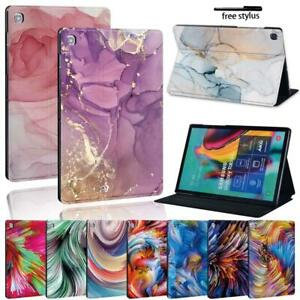 "Watercolor leather Stand Cover Case for Samsung Galaxy Tab A A6 7""10""/Tab E S5E"