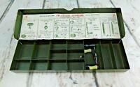 Vintage Pflueger Supreme 4361 Tool Case fishing Reel Parts Metal Box Case