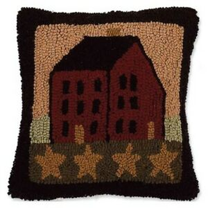 Saltbox House Nutmeg and Multi-color Pillow by Raghu