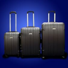 New DeBox 3PCS Luggage Travel Set Bag ABS Trolley Suitcase w/ Lock Dark Blue