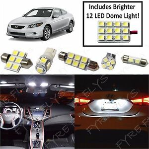 For 2003-2012 Honda Accord Map Dome Interior Brighter white LED lights package