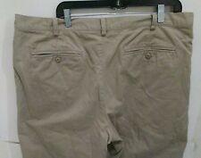 Mens Eddie Bauer Tan Flannel Lined Khaki Pants Size 40 X 32 Straight Leg