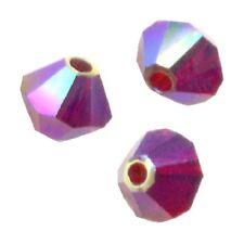 25 Perles Toupies 4mm Cristal de Swarovski - SIAM AB2X - 5328 XILION
