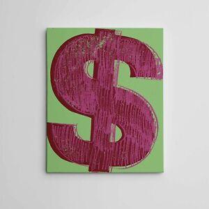 "16X20"" Gallery Art Canvas: Andy Warhol 'Dollar Sign' Masterworks Fine Arts Pop"