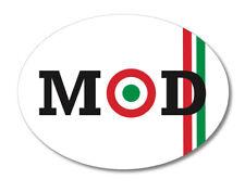 2 x ITALIA MOD OVAL Flag, car, van decal sticker