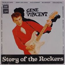 GENE VINCENT: Story of the Rockers '77 French EMI Pathe 45 w/ PS Rockabilly