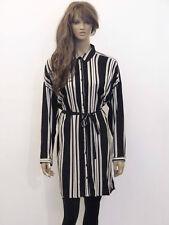 Plus Size Striped Short/Mini Shirt Dresses for Women