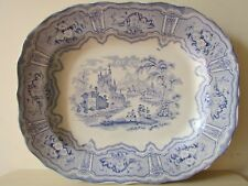 "ANTIQUE BLUE / WHITE MEAT PLATTER SYRIA R.C. & CO, 16"" X 13""."