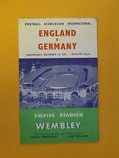 Amichevole Internazionale-Inghilterra/Germania - 1st DICEMBRE 1954