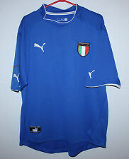 Italy National Team home shirt 03/04 Puma Del Piero Pirlo Totti Size XXL