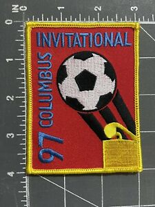 Vintage Columbus Invitational 97 Patch 1997 Cup Soccer Football Club CSC CFC GA