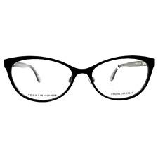 New TOMMY HILFIGER Women's Eyeglasses TH 1554 003 Black Optical Frame 54-16-140