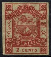 North Borneo 1888-92 SG#38c 2c Lake-Brown Imperf Unused No Gum #D44290
