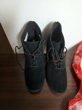 Timberland Women's Tillston Chukka High Heel Boots Style A1HTT Black Size 10