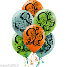 BUBBLE GUPPIES LATEX BALLOONS (6) ~ Birthday Party Supplies Decorations Nick Jr