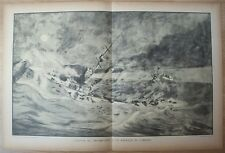 "Gravure de R. Pinard vers 1930 Le ""Monmouth"""