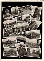 DÜSSELDORF Mehrbild-AK 1959 Bedarfspost gelaufen nach Eisenach in Thüringen
