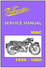VELOCETTE Workshop Manual MAC 1956 1957 1958 1959 and 1960 Service and Repair