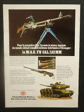3/1977 PUB FN HERSTAL MITRAILLEUSE MAG CAL 7,62 MACHINEGUN ORIGINAL FRENCH AD