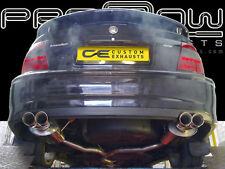 VAUXHALL VECTRA STAINLESS STEEL CUSTOM EXHAUST BACK BOX DUAL TWIN TAIL PIPES