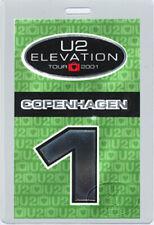 U2 2001 Elevation Laminated Backstage Pass Copenhagen