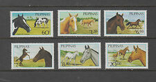 Philippine Stamps 1985 Philippine Horses set,MNH toned on one stamp