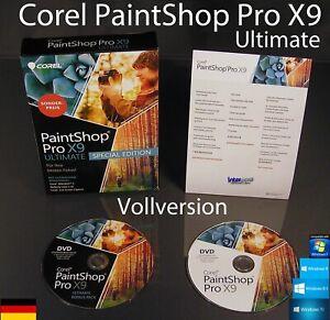 Corel PaintShop Pro X9 Ultimate Vollversion Box + DVD, Handbuch (PDF) OVP NEU