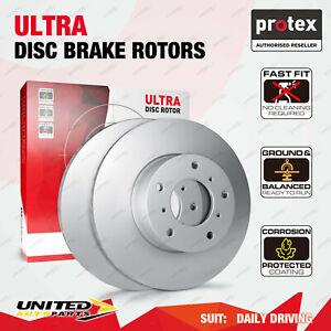 2 Rear Protex Solid Disc Brake Rotors for Honda Odyssey 2.3L RA 3.0 V6
