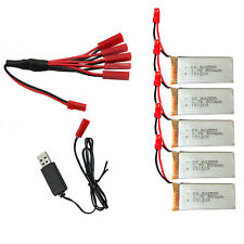 5 x 3.7V 800mAh Battery&1to5 JST Plug Charger&USB Wire For JJRC H12C V686 F181