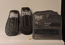 Everlast Head Protector and Warm Up Gloves New (bonus foot work mat)