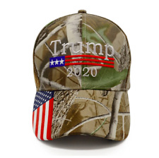 143d0101ce7 Trump 2020 Cap Hat Camo With American Flag Sewn On Visor