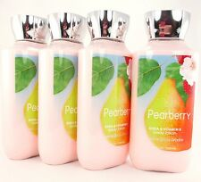 Bath Body Works Pearberry Lotion Set of 4 Hand & Body 8oz Shea Butter Vitamin E