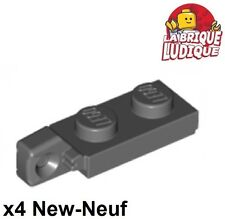 Lego - 4x Charnière hinge plate lock 1x2 gris f/dark b. gray 44301 44302 NEUF