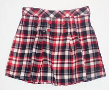 "Gymboree ""Homecoming Kitty"" Pleated Red White Blue Plaid Skirt, 10"