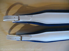 Stylish Blue & White Deluxe Accordion Straps Italcinte 306a Leather + BackStrap