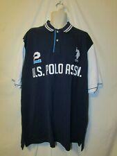 mens us polo assn embroidered polo shirt nwt Big 2XL $60 navy blue