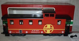 LGB No. 43714 Offset Cupola Caboose Santa Fe ATSF #999247 - G Scale in Box