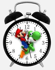 "Super Mario Yoshi Alarm Desk Clock 3.75"" Home or Office Decor W352 Nice For Gift"