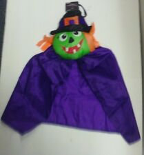 HALLOWEEN HANGING CUTE GREEN TOOTH WITCH HAT SPOOKY SCARY FUN DECORATION