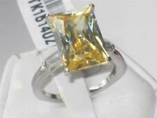 Cubic Zirconia Stainless Steel Citrine Costume Rings
