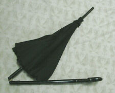 "VTG Victorian Little Umbrella Parasol Black Folding 19""w  Antique"
