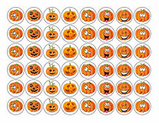 Halloween Pumpkin Edible Rice/Wafer Paper Cupcake/Fairy Cake Toppers 48X3cm