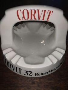 Stammtisch Aschenbecher mit Bügel, CORVIT 32 Reiner Weizenkorn Webung Selten