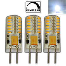 3x G4 LED 3 Watt 12V~ AC/DC KALTWEIß 48 SMD Halogen Lampe Birne Halogen Leuchte